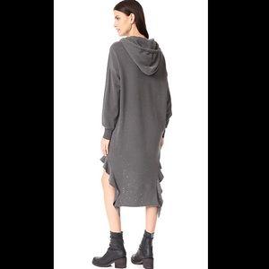 NSF Dresses - NSF Wren Sweatshirt Dress in Burgundy